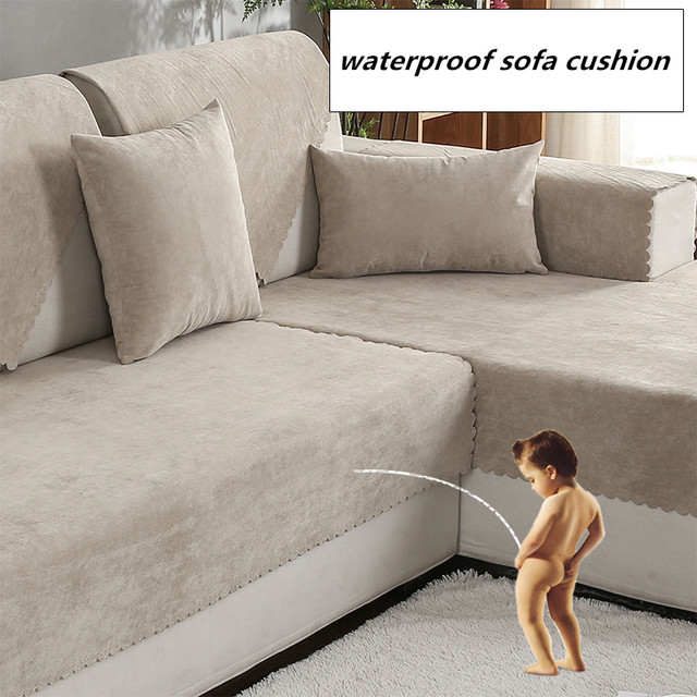 Waterproof Sofa Cushion Isolation Of Childrenu0027s Urine Towel Sofacover  Non Slip Pure Color Four Seasons