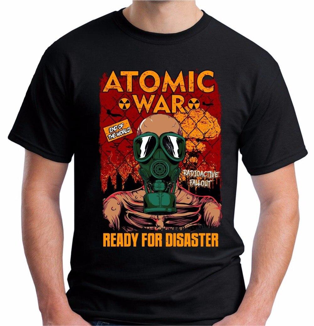 2018 New Men T Shirt Mens Hot Sale 100% Cottonnuclear Radiation War T Shirt Nuclear Apocalypse Gaming Game Men Tee Shirt