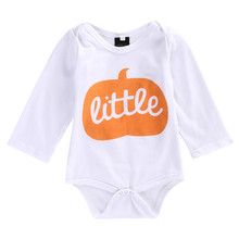 Halloween Newborn Baby Boys Girls Long Sleeve Autumn Cotton Romper Jumpsuit Clothes Outfits 0-24M th