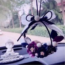 MR TEA Crystal Eternal Flower Car Hanging Ornament Car Rear
