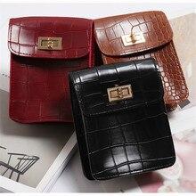 Vintage Leather Waist Alligator Fanny Pack Belt Bag SF