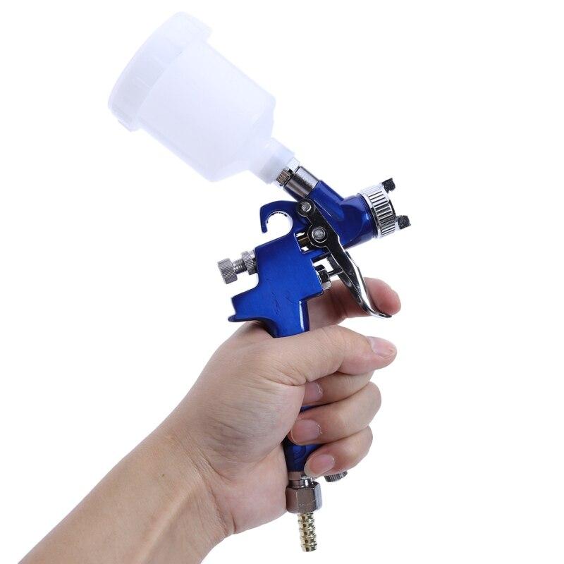 Image 5 - Spray Gun Air Mini Paint Gun 0.8MM/1.0MM Nozzle 0.25mpa Working Pressure 100ml Professional HVLP Air Brush Paint Spray Gun Tool-in Spray Guns from Tools on