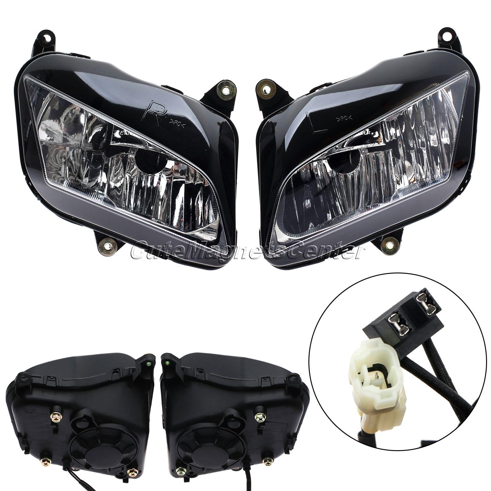 ФОТО 1 Pair Motorcycle Front Headlight Lamp Head Light Assembly Motorbike Head Lamp Lighting For Honda CBR600RR 2007-2012 08 09 10 11