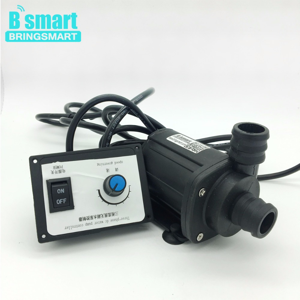 Bringsmart JT-1000A3 3000L/H 7M Mini Brushless Booster Pump 12V DC Water Pump + Speed Controller 24V Submersible Fountain Pump mini water pump zx43a 1248 plumbing mattresses high temperature resistant silent brushless dc circulating water pump 12v 14 4w