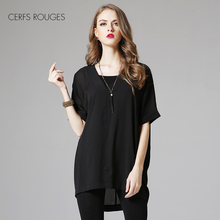 V-Neck 2018 female blouses
