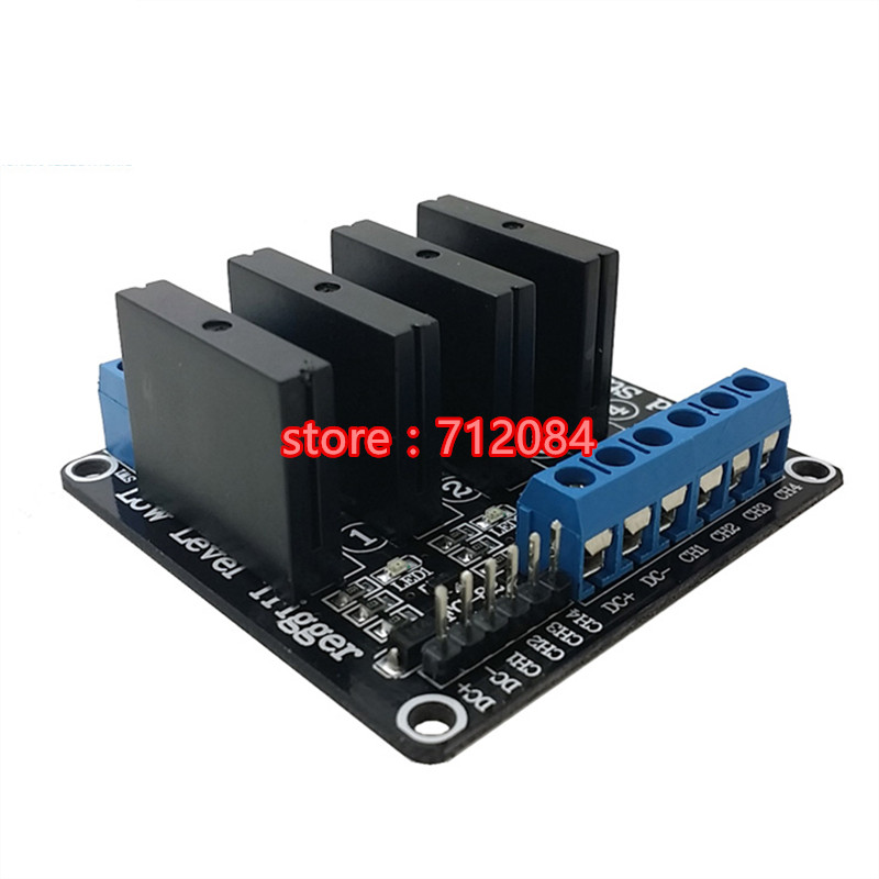 4 Channel 12V LOW Level Solid State Relay Module Board with Fuse 240V2A relay shield v1 0 5v 4 channel relay module for arduino works with official arduino boards