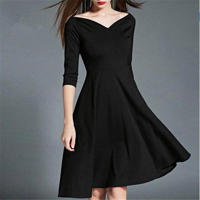 Vestito nero in inverno