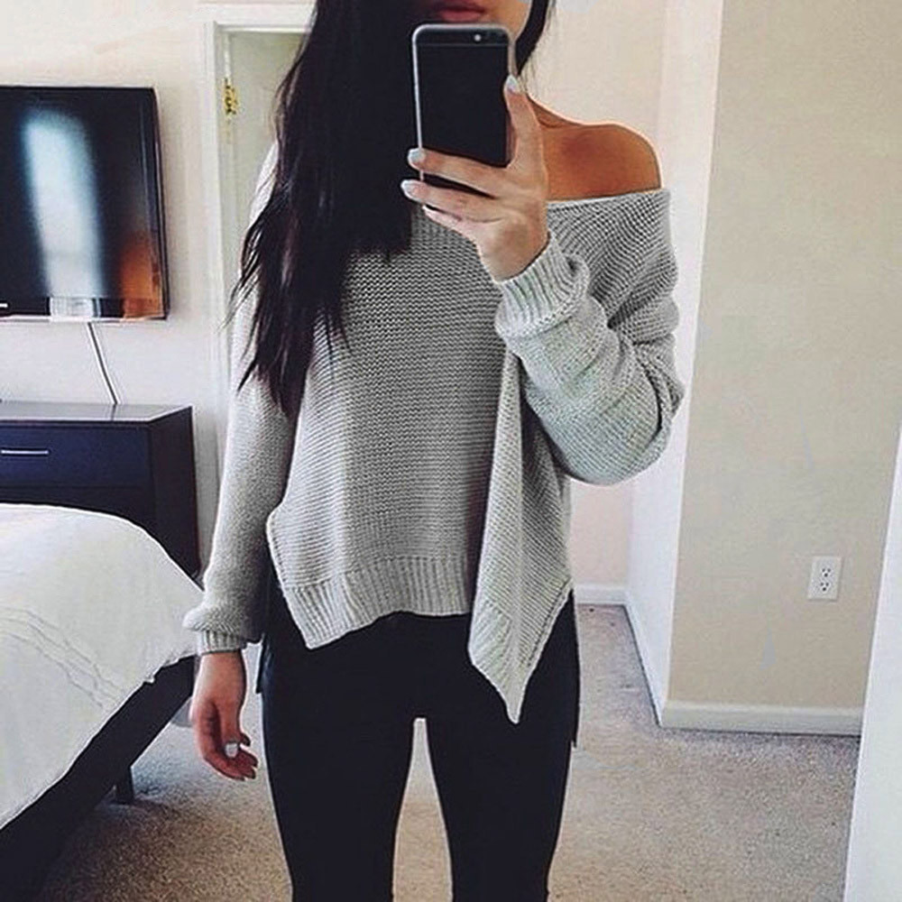 sweater for women Long Sleeve Knitted Pullover Loose Sweaters befree Jumper tops female blouse Knitwear F80