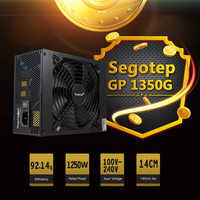 Segotep 1250W GP1350G ATX PC Mining Power Supply 80Plus Gold Active PFC Support 6 Graphics Card