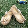 2017 Girls Shoes Mini Melissa Sandals Girls Beach Sandals Princess Ballet Shoes 3D Bow melissa jelly shoes
