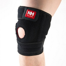 Sales Promotion Outdoor Cilmbing Running Hiking Left Knee Supporter Black Health Sports Free Shipping