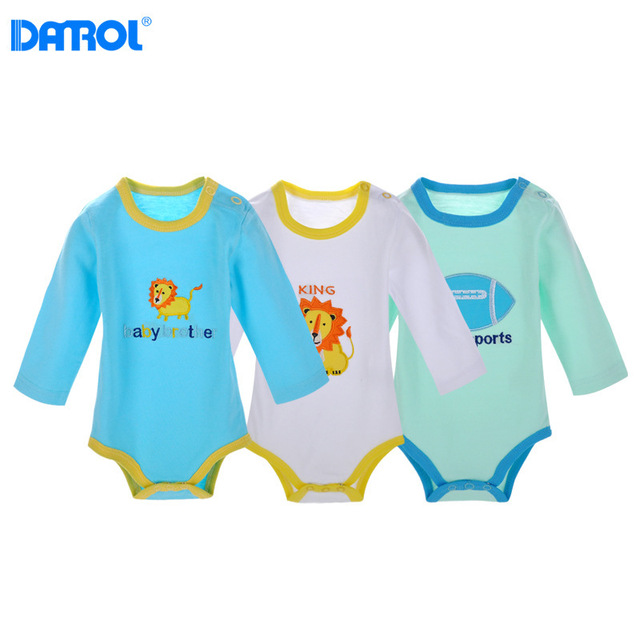 3pcs Danrol Infant Bodysuits Newborn Baby Girl Boy Onesie Body Clothing Cotton Baby Costume
