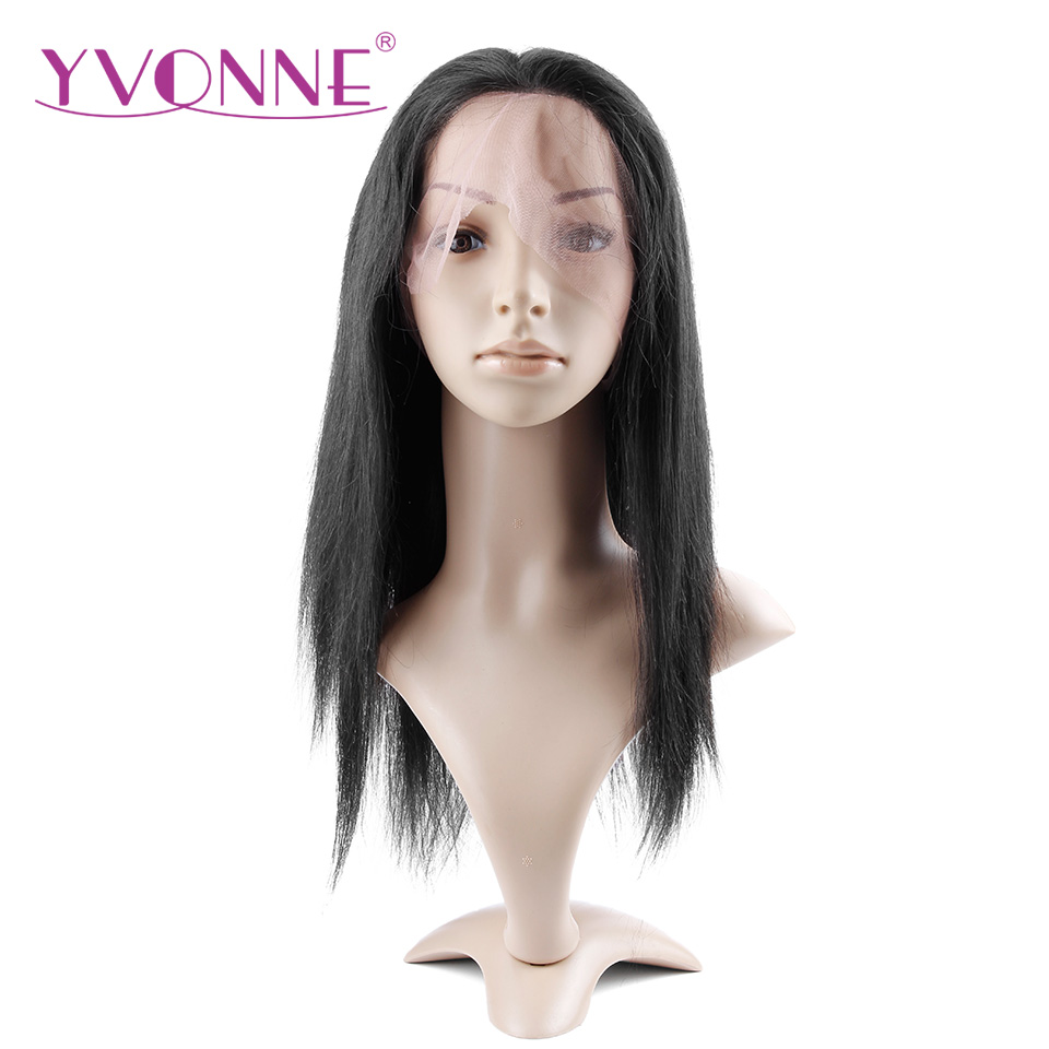 YVONNE Straight font b Human b font font b Hair b font Full Lace Wigs Brazilian