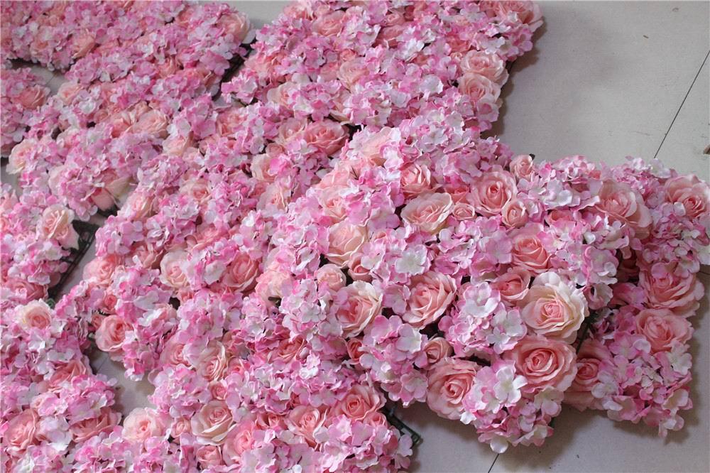 SPR 10pcs / lot Umetna svila rose cvet stena 10 barv poročno ozadje - Prazniki in zabave - Fotografija 2