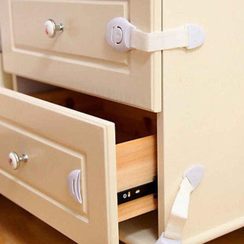10 - Pack Pudcoco เด็กล็อคป้องกันเด็กประตูตู้ลิ้นชักตู้เย็นเด็กล็อคความปลอดภัย