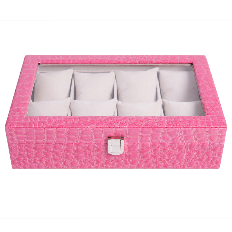 New Fashion Jewelry Display Casket Jewelry Organizer watch Box Case for Jewlery Gift Box Jewelry Box display box