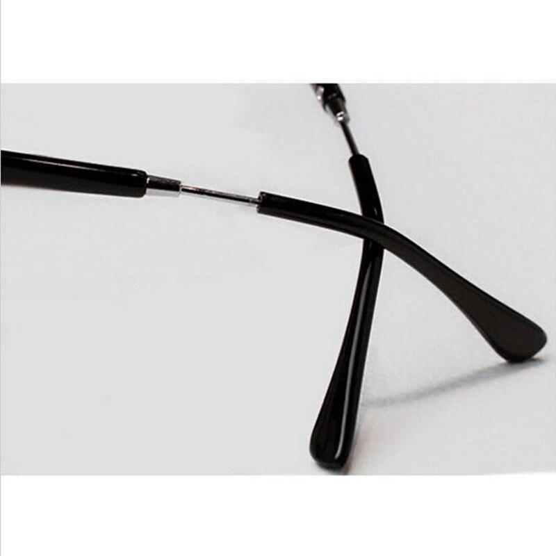 De Mujeres ojo Gafas marco hombres vintage metal redondo medio ...