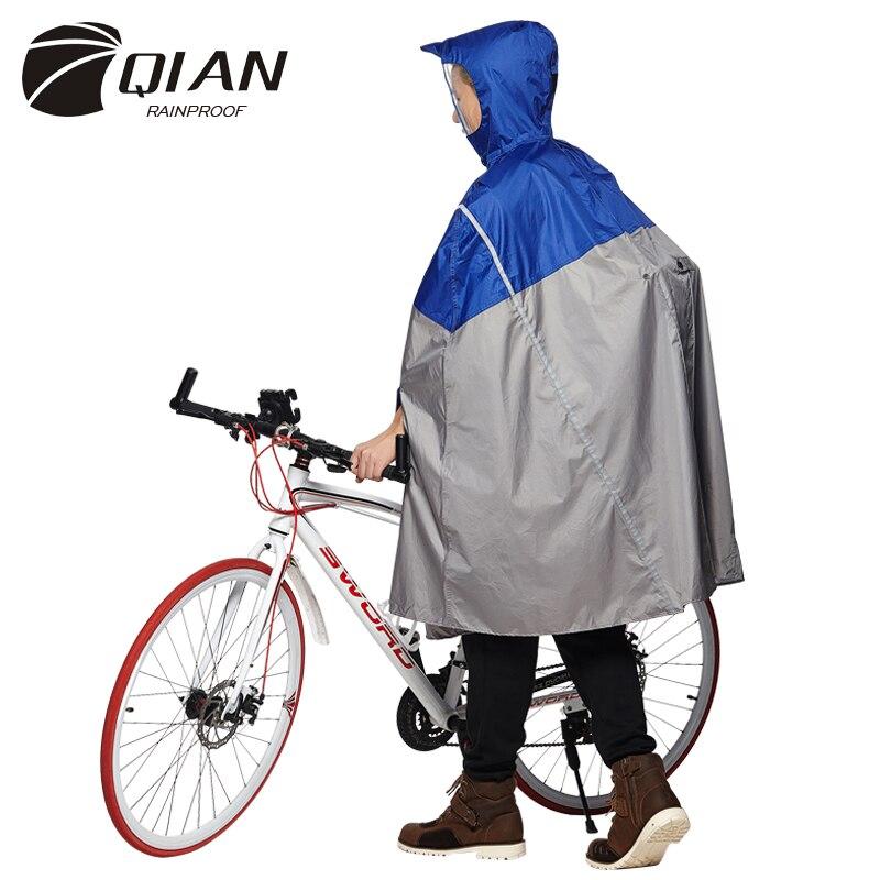QIAN ANTIPIOGGIA Impermeabile Alla Moda All'aperto Pioggia Poncho Zaino Nastro Riflettente Disegno Arrampicata Escursionismo Viaggio Parapioggia