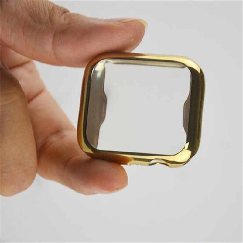 עבור אפל שעון 4 מקרה כיסוי ברור TPU מסך מגן מלא כיסוי עבור iWatch 4 44 MM 40 MM