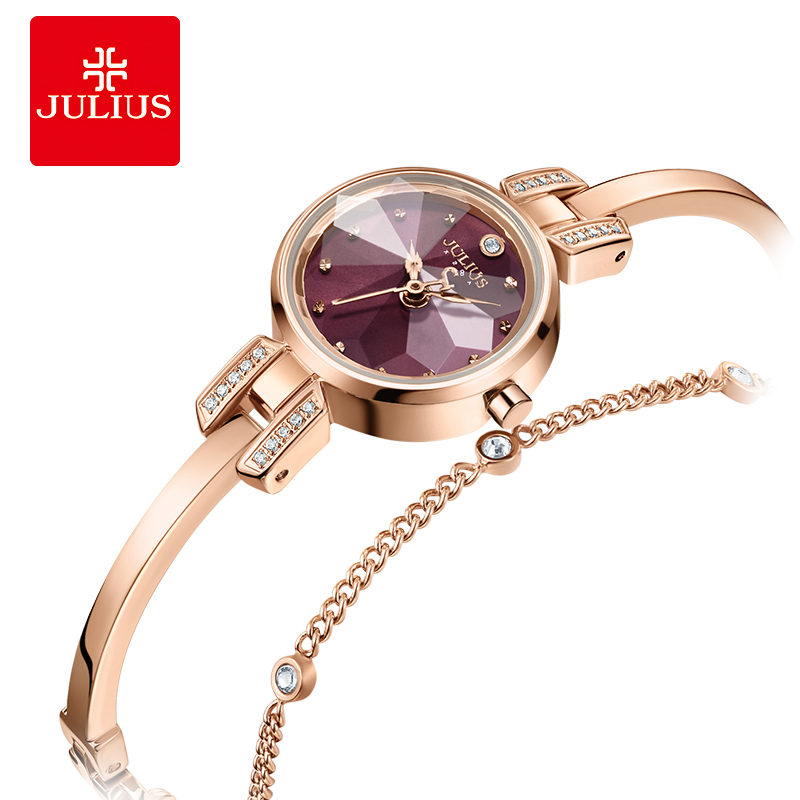 Mini Julius Lady Women's Watch Japan Quartz Fashion Hour Small Clock Chain Bracelet Top Girl's Valentine Birthday Gift Box