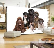 Custom 3D photo wallpaper pet store dog Wallpaper