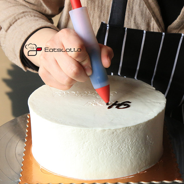 Silicone Voedsel Schrijfpen Chocolade Decorating gereedschap Cakevorm Cream cup, cookie Icing Piping Pastry Nozzles keuken accessoires