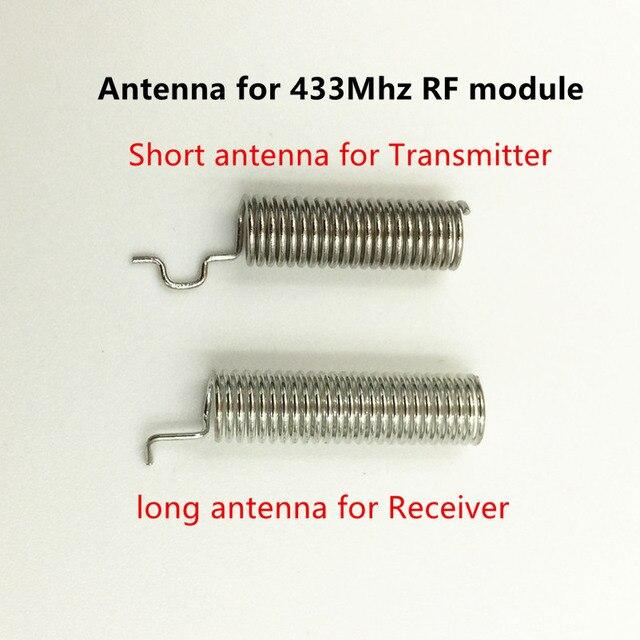 1 ensemble RF module 433 Mhz superhétérodyne récepteur et transmetteur kit avec antenne pour Arduino uno bricolage kits 433 mhz télécommande 5