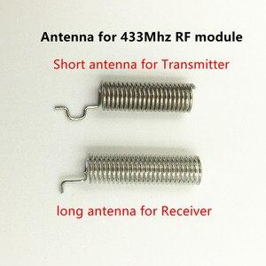 Image 5 - 1 zestaw moduł rf 433 Mhz superheterodyne odbiornik i nadajnik zestaw z anteną dla arduino uno zestawy diy 433mhz pilot