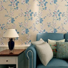 3D Embossed Non-woven Wallpaper Sweet Romantic Flower Bedroom Living Room Sofa Background Wall Paper girls bedroom embossed wallpaper pink background wall 3d wallpaper pvc roll classic flower wall paper peony floral wall covering