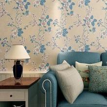 3D Embossed Non-woven Wallpaper Sweet Romantic Flower Bedroom Living Room Sofa Background Wall Paper