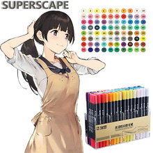 80/48/36/24 Colors Art Markers Set Colorful Double Head  Marker Brush Pens for Artist Drawing Scribble Manga Animation Supplies 120 colors double head marker sketch markers set art marker oil based animation colors manga for drawing with box