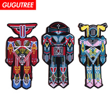 GUGUTREE embroidery robot patches,iron on patches badges applique,diy for clothing,patches clothing JW-122