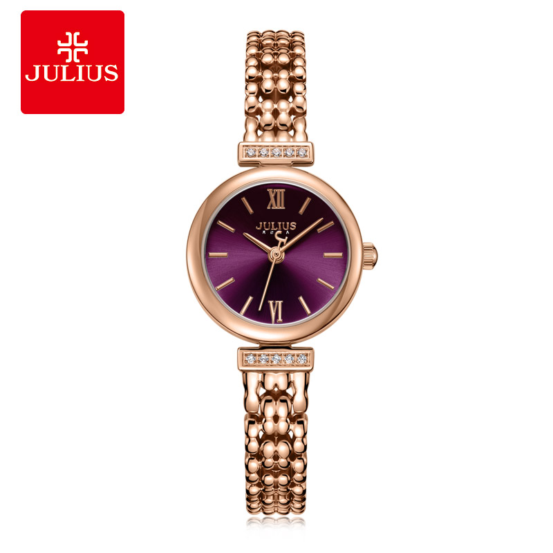 Julius bijoux montre dames mince violet Antique Relogio avec cristal Bracelet bande montre de mode femmes Reloj Mujer JA 1139-in Montres femme from Montres    1