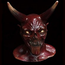 Realistic Horrible Latex Scary Demon Carnival Party Halloween Devil Mask