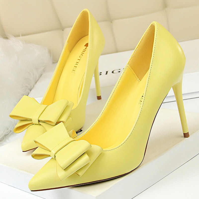 7a1226ddcf0 Bigtree Shoes 2019 Spring New Women Pumps Fashion Kitten Heels  Butterfly-knot Women High Heels