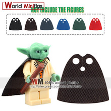 5PCS/lot Cutoms Super Heroes Trench Coats Super Hero Yoda Darth Vader Suede Building Blocks Cloak Capes Kids Gifts Toys(China)