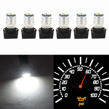 WLJH T10 Led Interior Lights Car Gauge Dashboard Dash Light Instrument Cluster Panel W5W 194 Bulb Twist Socket PC195 PC194 PC168(China)