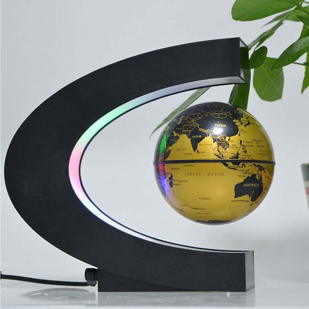 Floating Globe with LED Lights yellow
