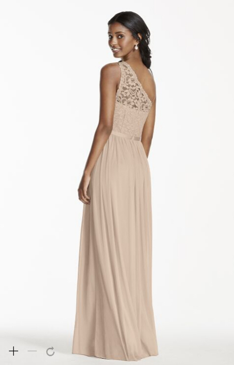 Sexy Champagne Lace Bridesmaid Dresses A Line Chiffon One Shoulder Backless  Floor Length Empire waist Bridesmaid Gowns B13-in Bridesmaid Dresses from  ... 276b5d89a181