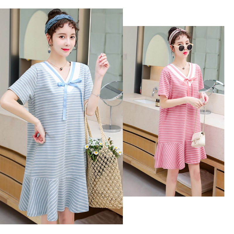 2019 new pregnancy dress summer dress fashion section Korean version of the loose spring and autumn pregnant women skirt