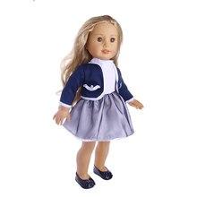 Formal con chaqueta de uniforme de la escuela ropa de la muñeca de 18  pulgadas DIY traje de manga larga vestido lindo accesorio . d78857f3e7403