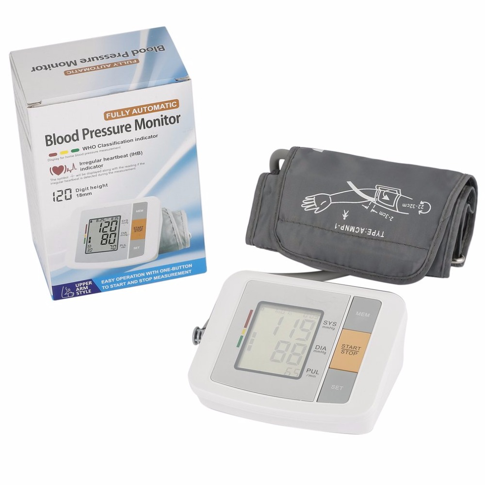 Health Care Automatic Arm Blood Pressure Monitor Portable Blood Pressure Meter Monitor Meters Sphygmomanometer Family With Box blood pressure monitor automatic digital manometer tonometer on the wrist cuff arm meter gauge measure portable bracelet device