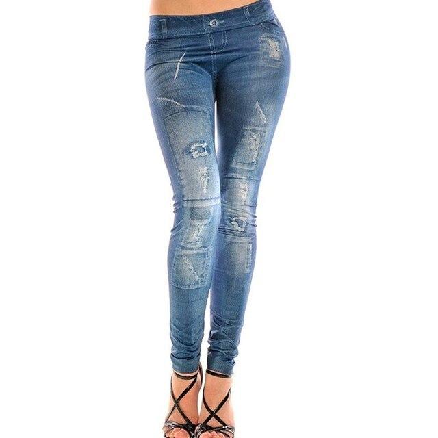 9236fd7238dc4 Fashion Women's Denim Ripped Leggings Jeggings pencil pants 4 Types free  size