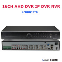 4 HDD 16CH 1080P AHD DVR IP DVR Recorder Network CCTV Security Surveillance IP Video Recorder