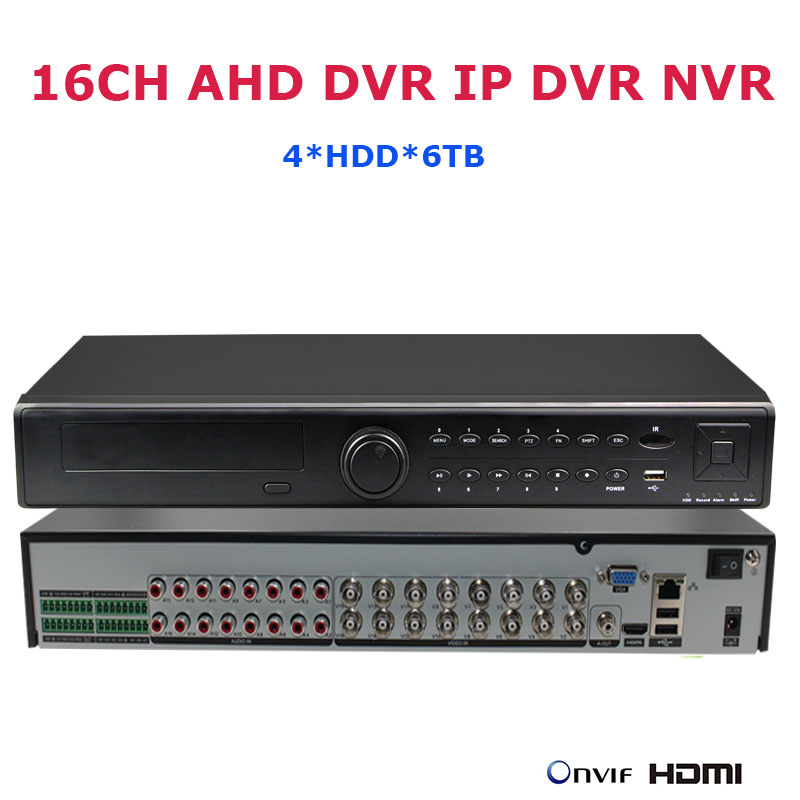 16CH 1080P AHD DVR IP DVR Recorder Network 4*HDD CCTV Security Surveillance IP Video Recorder NVR 3MP 5MP HVR AVR P2P ONVIF DVR hikvision ds 7716ni i4 ds 7732ni i4 12mp 16ch 32ch nvr security surveillance digital video recorder onvif protocol 4 hdd ports