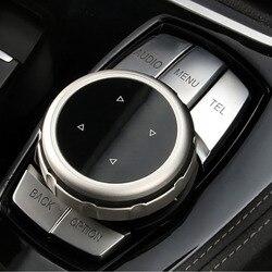 Car Multimedia przyciski pokrywa Idrive pokrętło regulacji osłona przycisku jazdy naklejki gałka pokrywy samochodu dla BMW serii trwałe dekoracyjne w Naklejki samochodowe od Samochody i motocykle na