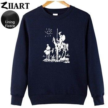 Pablo Picasso pintura Don Quijote de la Mancha el molino de viento ropa de pareja niños hombre sudadera de lana