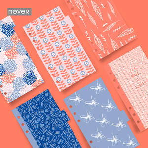 Notebook-Accessories Planner-Filler Dividers Filofax NEVER Paper A6 Hydrangea-Petals