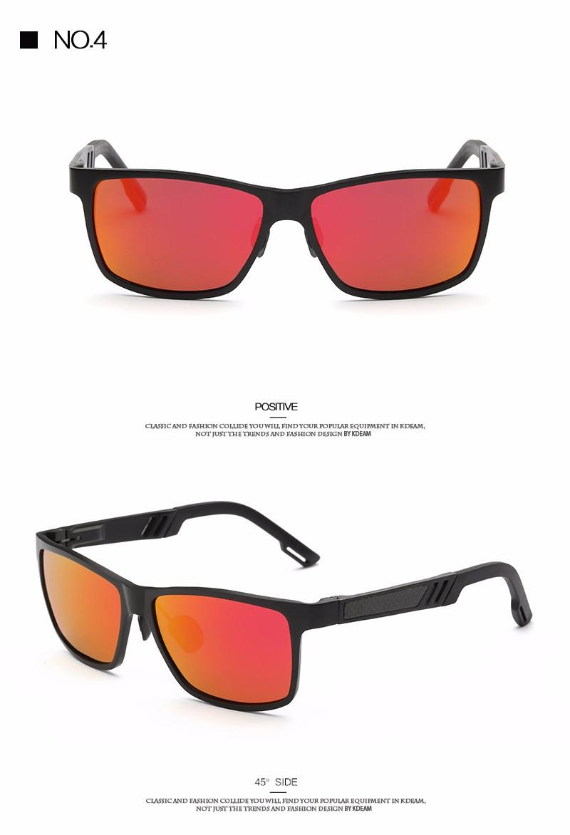 de34d92689f7a KDEAM Óculos Polarizados Óculos de Sol Dos Homens de Alumínio E Magnésio  Polarizadores Lentes Tons Preto Com Reciclado Caixa de CE
