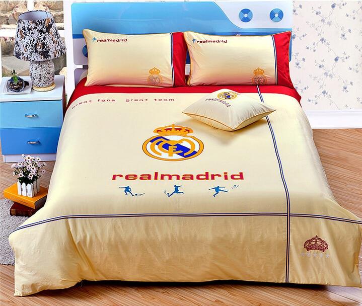 Brand Designer Bedding Set Organic Cotton Embroidery FC Barcelona Kids  Bedding Brazilian Football Team Boy Teenager Bedroom Set in Bedding Sets  from Home. Brand Designer Bedding Set Organic Cotton Embroidery FC Barcelona